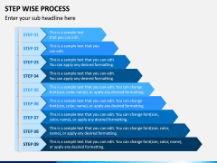 Step Wise Process PPT Slide 2