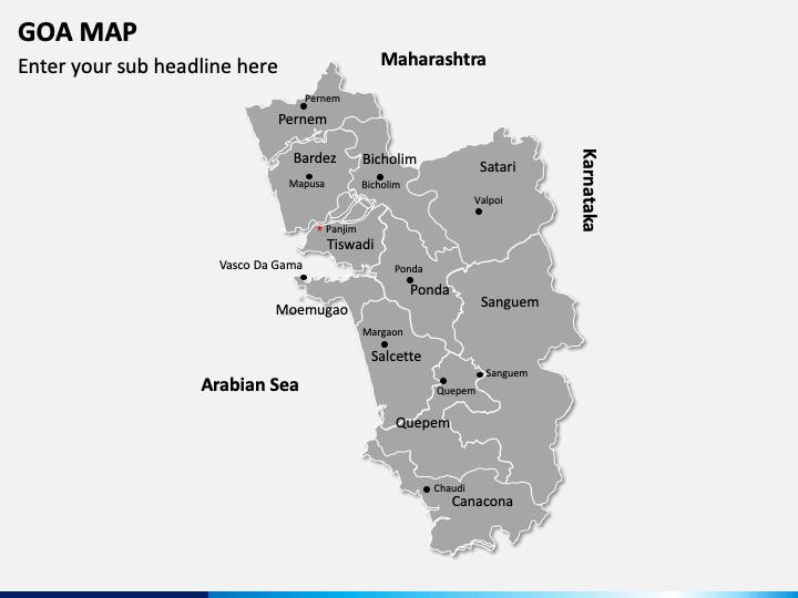Goa Map PPT Slide 1