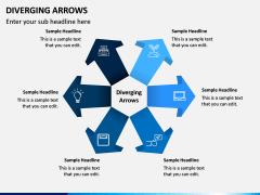 Diverging Arrows PPT Slide 1