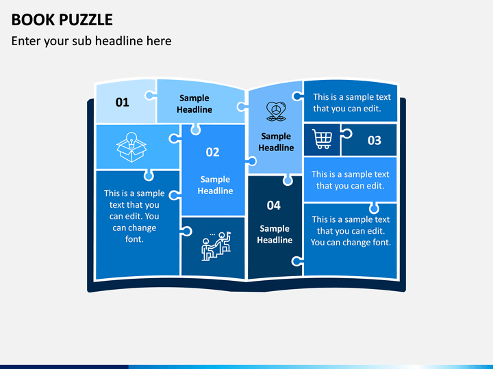 Book Puzzle PPT Slide 1