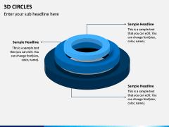 3D Circles PPT Slide 4