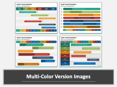 Gantt Chart Monthly Multicolor Combined
