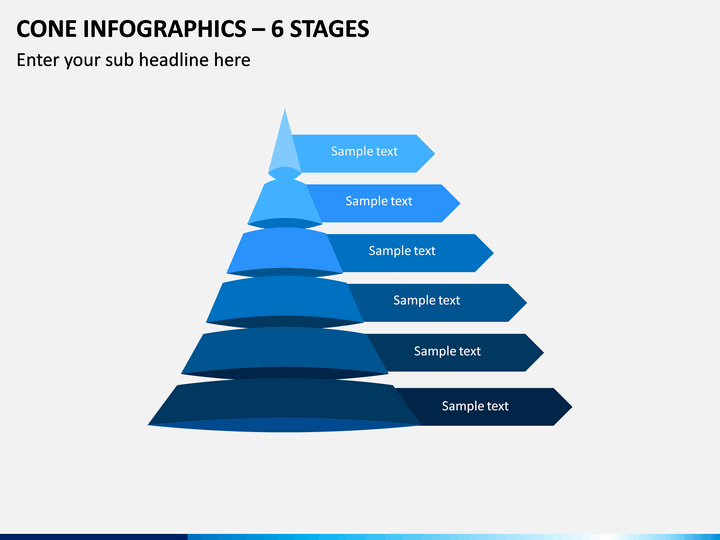 Cone Infographics – 6 Stages PPT Slide 1