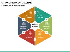 6 stage hexagon free PPT slide 2