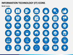 Information Technology (IT) Icons PPT Slide 9