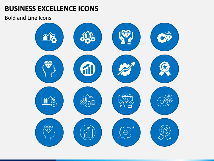 Businss Excellence Icons PPT Slide 1