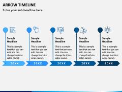 Arrow Timeline PPT Slide 3