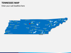 Tennessee Map PPT Slide 2