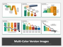 Sales Decline Multicolor Combined
