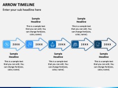 Arrow Timeline PPT Slide 2