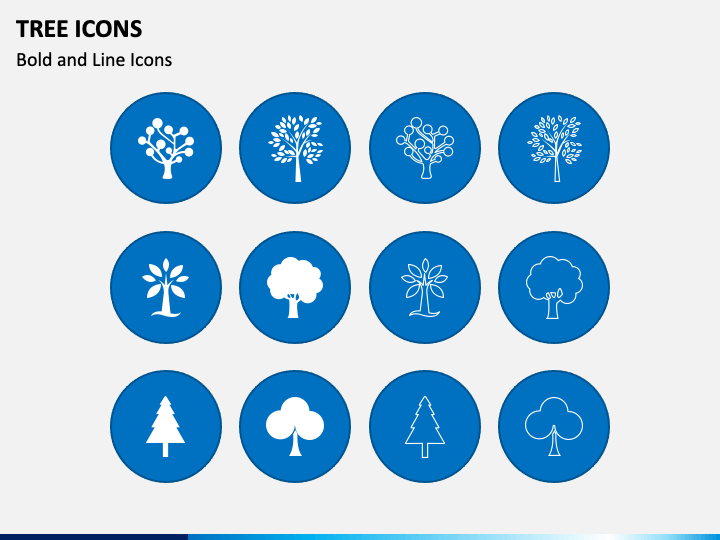 Tree Icons Slide 1