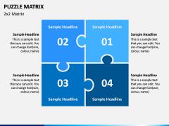 Puzzle Matrix PPT Slide 3