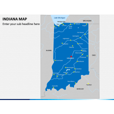 Indiana Map PPT Slide 1