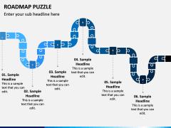 Roadmap Puzzle PPT Slide 2