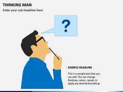 Thinking Man PPT Slide 2