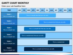Gantt Chart Monthly PPT Slide 2