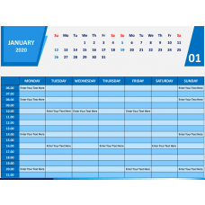 Calendar 2020 Weekly Schedule PPT Slide 1