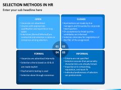 Selection Methods in HR PPT Slide 6