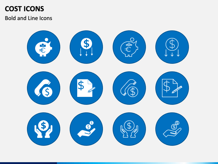 Cost Icons PPT Slide
