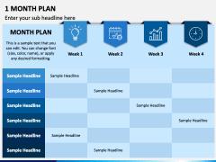 1 Month Plan PPT Slide 1
