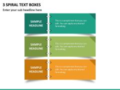 3 Spiral Text Boxes PPT Slide 2