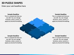 3D Puzzle Shapes PPT Slide 12