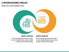 2 Interlocking Circles PPT Slide 2