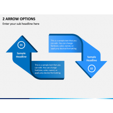 2 Arrow Options PPT Slide 1