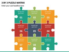 3 By 3 Puzzle Matrix PPT slide 2