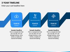 3 Year Timeline PPT Slide 1