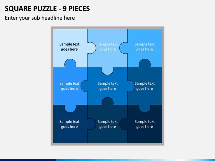 Square Puzzle - 9 Pieces PPT Slide 1