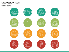 Discussion Icons PPT Slide 4