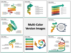 Spiral Arrow Infographics Multicolor Combined