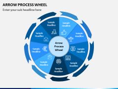 Arrow Process Wheel PPT Slide 9