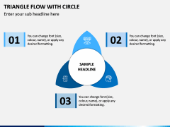 Triangle Flow With Circle PPT Slide 1