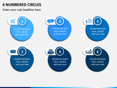 6 Numbered Circles PPT Slide 1