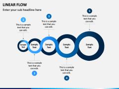 Linear Flow Infographics PPT Slide 7