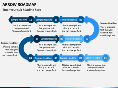 Arrow Roadmap PPT Slide 7