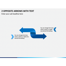 2 Opposite Arrows with Text PPT Slide 1