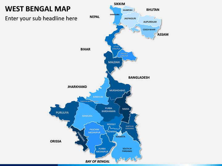 West Bengal Map PPT Slide 1