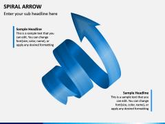 Spiral Arrow Infographics PPT Slide 3