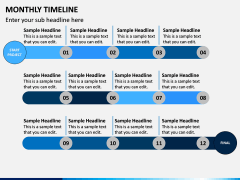 Monthly Timeline PPT Slide 8