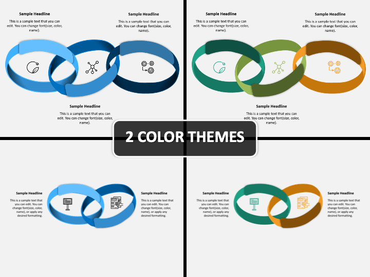 Connected Rings PPT Cover Slide