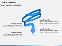 Spiral Arrow Infographics PPT Slide 1
