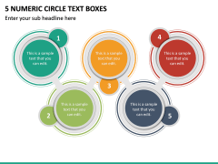5 Numeric Circle Text Boxes PPT Slide 2