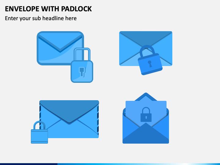 Envelope with Padlock PPT Slide 1