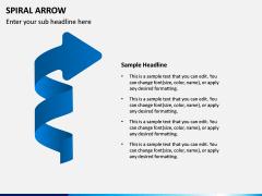 Spiral Arrow Infographics PPT Slide 5