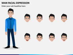 Man Facial Expression PPT Slide 4