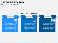 3 Step Horizontal Flow PPT Slide 1
