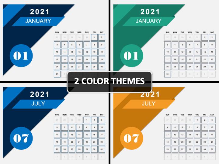 Calendar 2021 Type 4 PPT Cover Slide